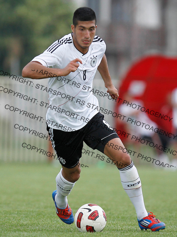 NOVI SAD, SERBIA - MAY 30 Emre Can of Germany in action during the U19 Hungary v U19 Germany - Elite Round match at Slana Bara stadium in Novi Sad, Serbia on Wednesday, May 30, 2012. (Photo by Srdjan Stevanovic / Getty Images)