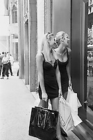 two women shopping  in New York City