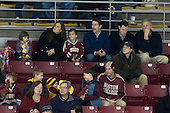 Boston College Eagle 2001 national champion (and 2009 and 2012 Stanley Cup champion) Rob Scuderi with his family including brother-in-law and former Boston University Terrier Kevin Schaeffer. - The Boston College Eagles defeated the visiting Dartmouth College Big Green 6-3 (EN) on Saturday, November 24, 2012, at Kelley Rink in Conte Forum in Chestnut Hill, Massachusetts.