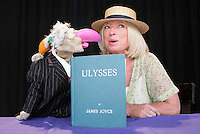 10/06/2009 Dustin and Anne Doyle at the launch of the Ulysses festival programme at The Ark stage in Meeting House Square, Temple Bar, Dublin. ÊBloomsday celebrations run 13th Ð 16th June at venues across Dublin including the James Joyce Centre in N. Grt GeorgeÕs Street, Meeting House Sq & Irish Film Institute in Temple Bar, Dublin WriterÕs Museum in Parnell St., Alliance Francaise & the National Library in Kildare St. Photo: Gareth Chaney Collins