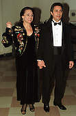 Valerie Harper and Tony Cacciotti arrive at The White House in Washington, D.C. for a dinner in honor of the National Medal of Arts recipients on January 9, 1997..Credit: Ron Sachs / CNP