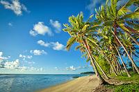 Amuri Beach at Aitutaki Island, Cook Islands.