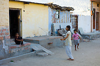 Children playing in village of Rohet in Rajasthan, Northern India