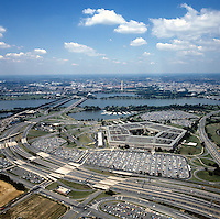 Aerial of Pentagon Washington DC