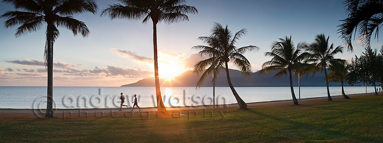 Sunrise on the Cairns Esplanade.  Cairns, Queensland, Australia