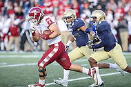 Annapolis, MD - December 3, 2016: Temple Owls fullback Nick Sharga (4) runs the ball during game between Temple and Navy at  Navy-Marine Corps Memorial Stadium in Annapolis, MD.   (Photo by Elliott Brown/Media Images International)