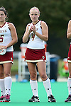 30 September 2016: Boston College's Leah Frome (CAN). The Duke University Blue Devils hosted the Boston College Eagles at Jack Katz Stadium in Durham, North Carolina in a 2016 NCAA Division I Field Hockey match. Duke won the game 6-2.