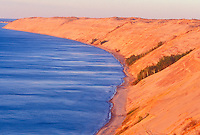 The Grand Sable dunes of Pictured Rocks National Lakeshore near Grand Marais, Mich.