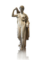 Aphrodite of Fr&eacute;jus in the style known as &quot;Venus Genetrix&quot;. A 1.64m high Roman statue, dating from the end of the 1st century BC to the start of the 1st century AD, in Parian marble, was discovered at Fr&eacute;jus (Forum Julii) in 1650. It is considered as the best Roman copy of the lost Greek work. Louvre Museum, Paris<br />