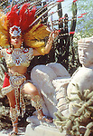 Aztecca Indian female Dancer Worshipping to the Gods