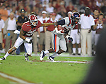 Ole Miss wide receiver Philander Moore (22) vs. Alabama defensive back Dee Milliner (28) at Bryant-Denny Stadium in Tuscaloosa, Ala. on Saturday, September 29, 2012. Alabama won 33-14. Ole Miss falls to 3-2.