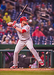 28 April 2016: Philadelphia Phillies first baseman Darin Ruf at bat against the Washington Nationals at Nationals Park in Washington, DC. The Phillies shut out the Nationals 3-0 to sweep their mid-week, 3-game series. Mandatory Credit: Ed Wolfstein Photo *** RAW (NEF) Image File Available ***