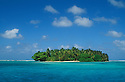 Marshall Islands, Micronesia:  small island on perimeter of Majuro Atoll, from lagoon.