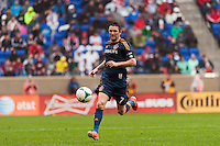 Robbie Keane (7) of the Los Angeles Galaxy. The New York Red Bulls defeated the Los Angeles Galaxy 1-0 during a Major League Soccer (MLS) match at Red Bull Arena in Harrison, NJ, on May 19, 2013.