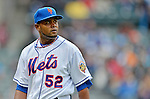 11 April 2012: New York Mets pitcher Ramon Ramirez walks back to the dugout from the mound during a game against the Washington Nationals at Citi Field in Flushing, New York. The Nationals shut out the Mets 4-0 to take the rubber match of their 3-game series. Mandatory Credit: Ed Wolfstein Photo
