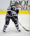 8 February 2009: University of New Hampshire Wildcats' forward Courtney Birchard, a Sophomore from Mississauga, Ontario, in action against the University of Vermont Catamounts in the second game of a weekend series at Gutterson Fieldhouse in Burlington, Vermont. The Wildcats defeated the lady Catamounts 6-2 to sweep the 2-game series. Mandatory Photo Credit: Ed Wolfstein Photo