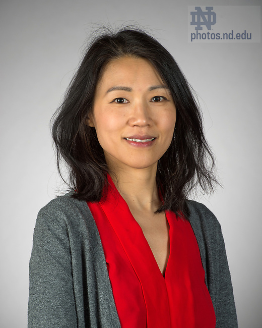 May 12, 2017; Fang Liu - Headshot (Photo by Barbara Johnston/University of Notre Dame)