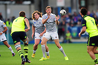 Rhys Priestland of Bath Rugby receives the ball. Pre-season friendly match, between Leinster Rugby and Bath Rugby on August 26, 2016 at Donnybrook Stadium in Dublin, Republic of Ireland. Photo by: Patrick Khachfe / Onside Images