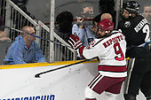 Luke Esposito (Harvard - 9), Vincent Desharnais (PC - 2) - The Harvard University Crimson defeated the Providence College Friars 3-0 in their NCAA East regional semi-final on Friday, March 24, 2017, at Dunkin' Donuts Center in Providence, Rhode Island.