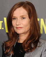 NEW YORK CITY, NY, USA - OCTOBER 06: Isabelle Huppert arrives at the New York Premiere Of The Weinstein Company's 'St. Vincent' held at the Ziegfeld Theatre on October 6, 2014 in New York City, New York, United States. (Photo by Celebrity Monitor)