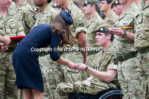 """PRINCE WILLIAM and CATHERINE, Duchess of Cambridge..Attend Irish Guards medal ceremony, Victoria Barracks, Windsor_25/06/2011..Mandatory Photo Credit: ©Dias/Newspix International..**ALL FEES PAYABLE TO: """"NEWSPIX INTERNATIONAL""""**..PHOTO CREDIT MANDATORY!!: NEWSPIX INTERNATIONAL(Failure to credit will incur a surcharge of 100% of reproduction fees)..IMMEDIATE CONFIRMATION OF USAGE REQUIRED:.Newspix International, 31 Chinnery Hill, Bishop's Stortford, ENGLAND CM23 3PS.Tel:+441279 324672  ; Fax: +441279656877.Mobile:  0777568 1153.e-mail: info@newspixinternational.co.uk"""