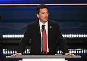 Scott Baio makes remarks at the 2016 Republican National Convention held at the Quicken Loans Arena in Cleveland, Ohio on Monday, July 18, 2016.<br /> Credit: Ron Sachs / CNP<br /> (RESTRICTION: NO New York or New Jersey Newspapers or newspapers within a 75 mile radius of New York City)