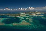 Aerial - Reefs near Yanggeta island.