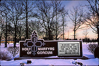 Vince Lombardi's words grace a church marquee in Green Bay, Wisconsin in January of 1997.