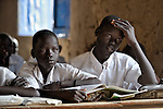 Students in a classroom in Malakal, Southern Sudan.