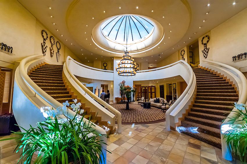 Lobby, Saxon Hotel, Johannesburg, South Africa.