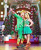 Elf <br /> by Thomas Meehan and Bob Martin <br /> at the Dominion Theatre, London, Great Britain <br /> press photocall <br /> 2nd November 2015 <br /> <br /> <br /> Ben Forster as Buddy <br /> Kimberley Walsh as Jovie<br /> <br /> <br /> Photograph by Elliott Franks <br /> Image licensed to Elliott Franks Photography Services