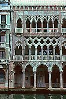 Venice:  Ca D'Oro, elevation, 1440.  So called because it was once gilded all over.  Photo '83.