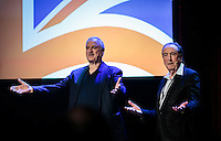 LAS VEGAS, NV - November 18, 2016: ***HOUSE COVERAGE*** John Cleese and Eric Idle pictured as  John Cleese & Eric Idle: Together Again At Last…For The Very First Time at The Venetian Theater at The Venetian Las Vegas in Las Vegas, NV on November 18, 2016. Credit: Erik Kabik Photography/ MediaPunch