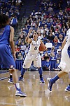 UK guard Jennifer O'Neill looks for a pass during the second half of the women's basketball game v. Depaul University in Rupp Arena in Lexington, Ky., on Sunday, December 7, 2012. Photo by Genevieve Adams | Staff