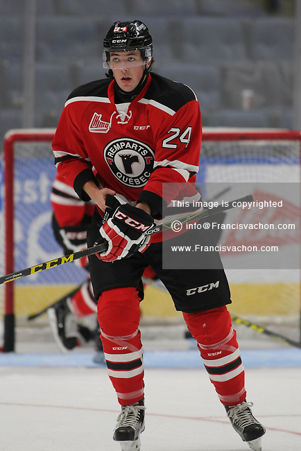 QMJHL (LHJMQ) hockey profile photo on Quebec Remparts Ryan McReynolds October 8, 2015 at the Centre Videotron in Quebec city.