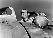 James Jabara was born in Muskogee, Oklahoma, October 10, 1923.   He was the world's first jet-vs-jet ace.  He  scored his initial victory on April 3, 1951 and his 5th and 6th victories on May 20, 1951. He was then ordered back to the U.S. for special duty. However, at his own request, he returned to Korea in January 1953.  By June, he had shot down nine additional MiG-15s, giving him a total of 15 air-to-air jet victories during the Korean Conflict. Jabara was also credited with 1.5 victories over Europe during World War 2 (The German Luftwaffe had 22 jet pilot aces during World War 2 but all claims were Allied prop-driven aircraft.)  Jabara died in a traffic accident on November 17, 1966.  At the time of his passing, he was the youngest Colonel in the Air Force, was widely rumored to be on the brink of promotion to General..Credit: U.S. Air Force via CNP