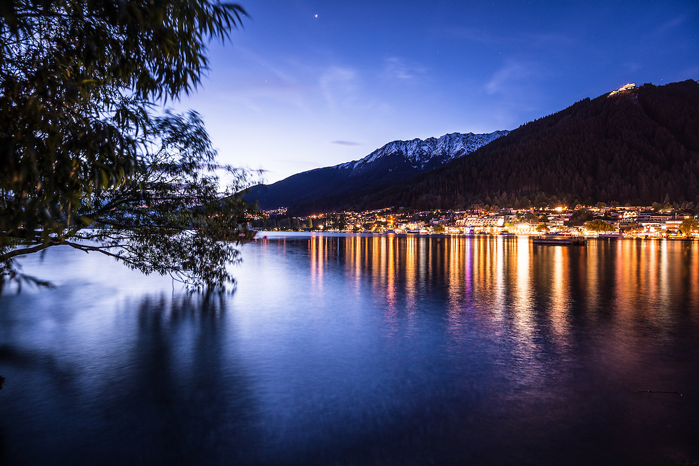 Queenstown Waterfront at Night.