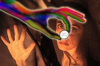 Disagio sociale.Social disease.Donna mentre fa uso di Exstasy. Woman while using Ecstasy......