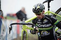Sven Nys (BEL/Crelan-AAdrinks) at recon<br /> <br /> Jaarmarktcross Niel 2015