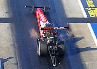 Jun 17, 2016; Bristol, TN, USA; NHRA top fuel driver Shawn Langdon during qualifying for the Thunder Valley Nationals at Bristol Dragway. Mandatory Credit: Mark J. Rebilas-USA TODAY Sports