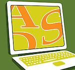 Close up of laptop computer
