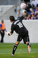 Real Salt Lake goalkeeper Nick Rimando (18) during a Major League Soccer (MLS) match against the New York Red Bulls at Red Bull Arena in Harrison, NJ, on October 09, 2010.