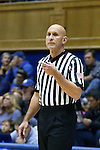 22 November 2016: Referee Luis Gonzalez. The Duke University Blue Devils hosted the Old Dominion University Monarchs at Cameron Indoor Stadium in Durham, North Carolina in a 2016-17 NCAA Division I Women's Basketball game. Duke won the game 92-64.