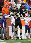 07 October 2006: Wake Forest's Nate Morton makes a catch in the first quarter for a 36 yard gain. The Clemson University Tigers defeated the Wake Forest University Demon Deacons 27-17 at Groves Stadium in Winston-Salem, North Carolina in an Atlantic Coast Conference NCAA Division I College Football game.