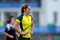Emily Chancellor of Australia looks on. FISU World University Championship Rugby Sevens Women's 9th/10th place match between New Zealand and Australia on July 9, 2016 at the Swansea University International Sports Village in Swansea, Wales. Photo by: Patrick Khachfe / Onside Images