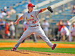 13 March 2009: St. Louis Cardinals' pitcher Brad Thompson on the mound during a Spring Training game against the Baltimore Orioles at Fort Lauderdale Stadium in Fort Lauderdale, Florida. The Cardinals defeated the Orioles 6-5 in the Grapefruit League matchup. Mandatory Photo Credit: Ed Wolfstein Photo