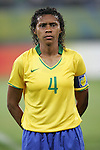 09 August 2008: Tania (BRA).  The women's Olympic soccer team of Brazil defeated the women's Olympic soccer team of North Korea 2-1 at Shenyang Olympic Sports Center Wulihe Stadium in Shenyang, China in a Group F round-robin match in the Women's Olympic Football competition.