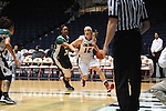 Ole Miss Lady Rebels' Gracie Frizzell (12) vs. Mississippi Valley State's Jasmyne Sanders (31) at the C.M. &quot;Tad&quot; Smith Coliseum in Oxford, Miss. on Tuesday, November 27, 2012.