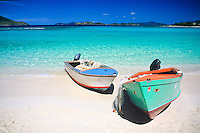 Fishing boats on the beach.St. Thomas.U.S. Virgin Islands