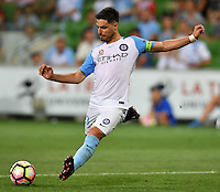 Melbourne, 6 January 2017 - BRUNO FORNAROLI (23) of Melbourne City kicks the ball in the round 14 match of the A-League between Melbourne City and Western Sydney Wanderers at AAMI Park, Melbourne, Australia. Melbourne won 1-0 (Photo Sydney Low / sydlow.com)